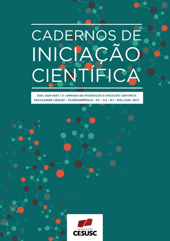 Capa da Revista Cadernos de Iniciação Científica